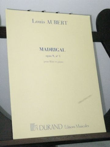 Aubert L - Madrigal Op 9 No 1 for Flute & Piano